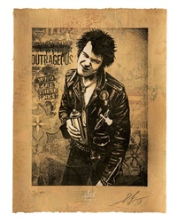 sid vicious by shepard fairey