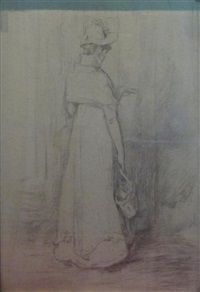 girl's back (study) (+ untitled; 2 works) by sir william quiller orchardson