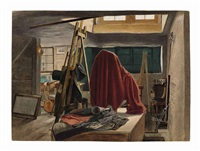 a view of the interior of an artist's studio by danish school (19)