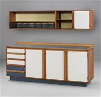 kitchen buffet and wall cupboard (set of 2) by egon eiermann