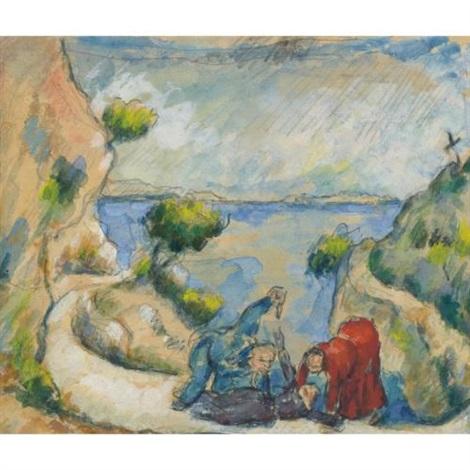 le meurtre dans la ravine by paul cézanne