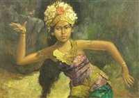 legong dancer by hasim