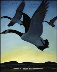 canadian geese by thoreau macdonald