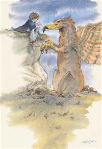 harry potter and buckbeak the hippogriff (from harry potter and the prisoner of azkaban) by cliff wright