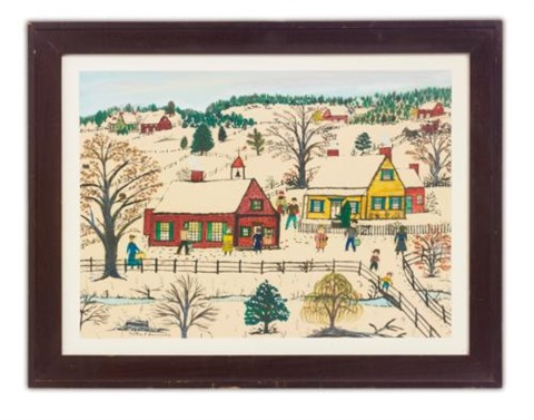 a country auction in the fall (+ 4 others; 5 works) by hattie klapp brunner