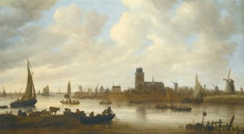 a view of dordrecht by jan josefsz van goyen