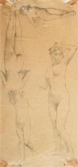 feuille d'études de nu féminin (study) by henri fantin-latour