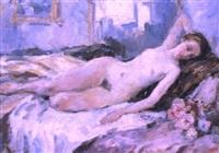 le nu avec le bouquet by nadejda noukalo