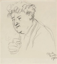 portrait of brendan behan by claude marks