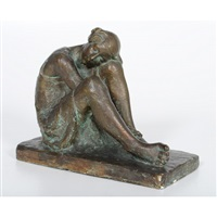seated woman by louise abel