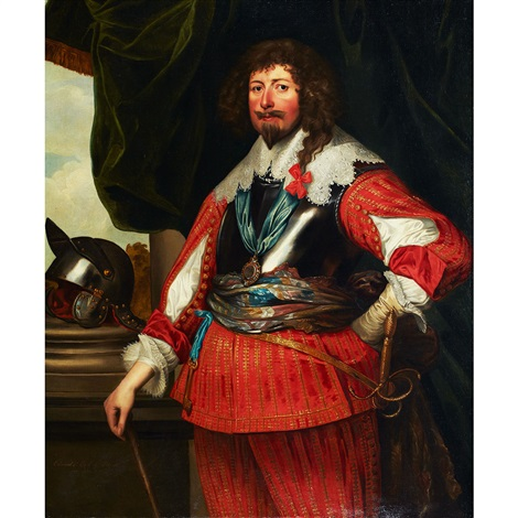 portrait of edward fourth earl of dorset died 1652 by sir anthony van dyck