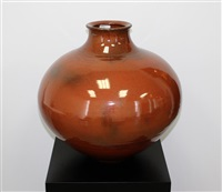 large floor vase by ray rogers