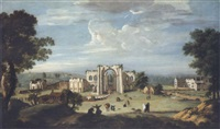 a church procession entering furness abbey by thomas (of derby) smith