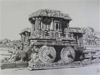 le char de pierre fantastique au temple de vittala à hampi by patrice serres