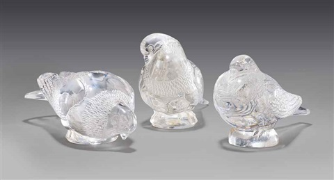 pigeon bruges, pigeon gand, and a pigeon vèrviers by rené lalique