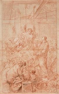 christus heilt den lahmen by bernhard (christian bernhard) rode
