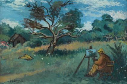 david burliuk painting (the impressionist) by moses soyer