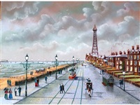 blackpool old (+ blackpool new; pair) by bernard mcmullen