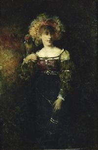 femme au perroquet by henryk piatkowski