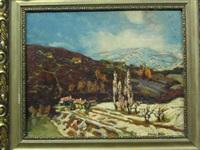 village landscape by andor karolyi