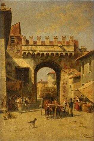 porta settimiana by jacques françois carabain