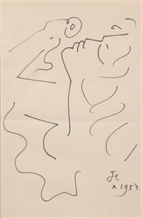 portrait by jean cocteau
