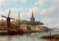 a dutch town in summer by eduard alexander hilverdink
