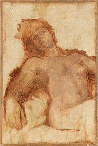 nu féminin, à mi-corps by fernand cormon