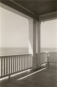 porch, monhegan island, maine by george tice