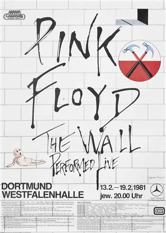 pink floyd the wall performed live dortmund february by gerald scarfe