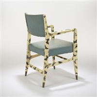 armchair by gio ponti and piero fornasetti