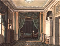 bedroom in a royal palace by wilhelm kretzschmer