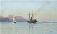 the bay in feodosia by lev felixovich lagorio