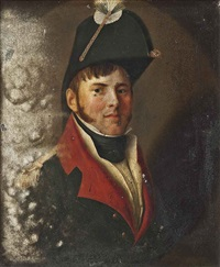 portrait of a gentleman (baron de fingardin?) in military uniform by jean-jacques de boissieu