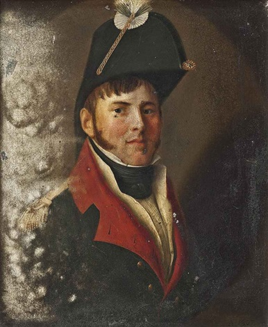 portrait of a gentleman baron de fingardin in military uniform by jean jacques de boissieu