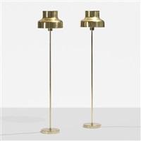 bumling floor lamps, pair by anders pehrson