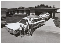 untitled - family with station wagon and boat by bill owens