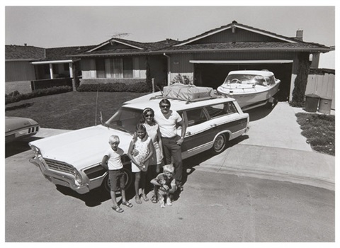 untitled family with station wagon and boat by bill owens