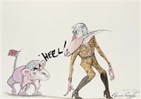 heel! by gerald scarfe