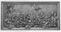 an equestrian battle scene by antoine-marin mélotte