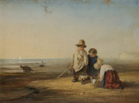 children on a beach by w. rogers