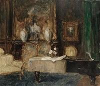 interior scene by carl albrecht