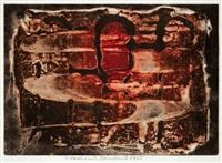 obrys tří retortů - egyptské hieroglyfy by vladimir boudnik
