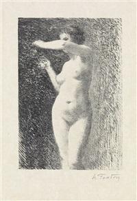 étude pour ève (+ baigneuse debout (3e planche), lithograph, 1899) by henri fantin-latour