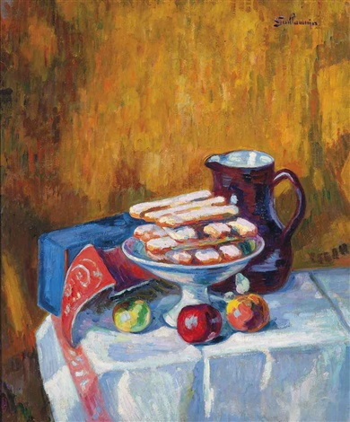 nature morte aux biscuits by armand guillaumin