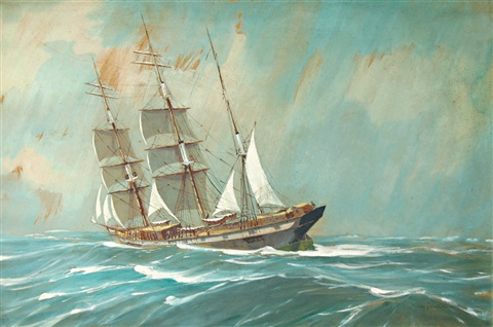 trois mâts vu par bâbord by georges fouille