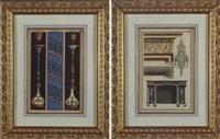 template of an interior by michelangelo pergolesi