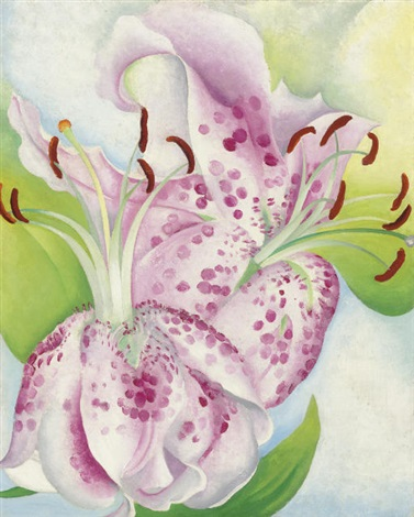pink spotted lilies by georgia okeeffe