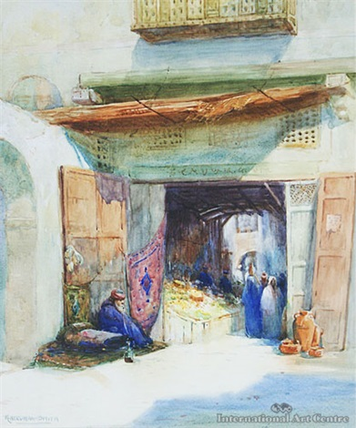 entrance to arab bazaar cairo by robert herdman smith