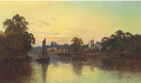 the thames at twickenham by m allan
